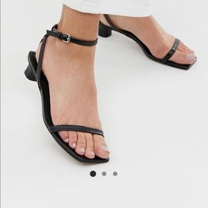 &Other stories leather square toe sandal size 7